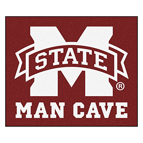 (NCAA Mississippi State University Bulldogs Man Cave Tailgater Rectangular Mat Area Rug)