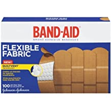"Band-Aid Adhesive Bandages, Flexible Fabric, All One Size 1"" X 3"" , 100 Count..."