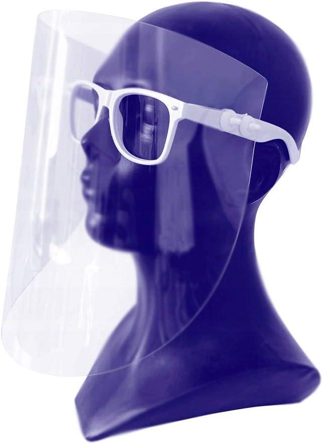 Visera protectora para la cara, protección máscara Facial Visera, máscara protectora, máscara industrial, protección ocular, protección de ojos, fabricada en la UE