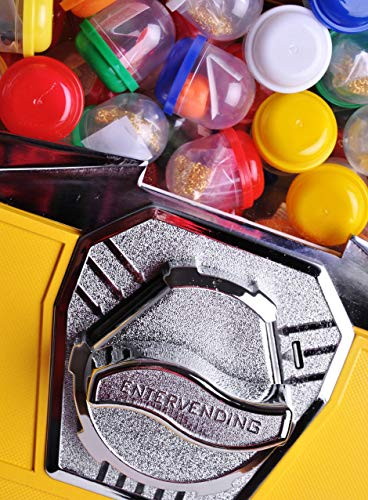 2'' Toy Capsule Vending Machine Four 25 Coins $1.00 Acorn Round Capsules Bouncy Balls (Yellow) by Global Gumball (Image #1)