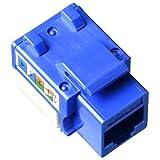 LinkedPro LPKJ505BU/100 Módulo Jack 110 Cat5E, Keystone, Color Azul, Paquete de 100 Piezas