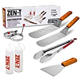 Zen-t 8 Piece Grill Griddle BBQ Tool Kit - Heavy Duty Professional Grade Stainless Steel BBQ Tools - Perfect Grilling Utensils for all your Grilling Needs – Outdoor and Indoor BBQ Accessories
