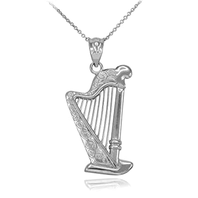 Charm Anhänger Harfe 1 aus 925 Sterling Silber