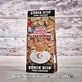 ilyas Gonen Dibek Ground Turkish Coffee/Plain Dibek and 19 Different Flavored (100g / 3,5oz) (Cumin Flavored Ground Turkish Coffee) -  Dibek Kuru Kahve