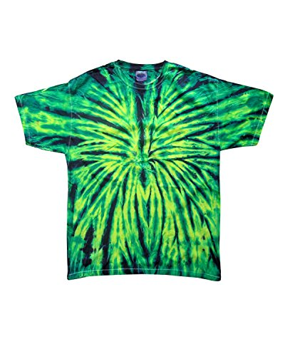 Wild Tie Dye - Colortone Multi Color Tie Dye Adult Tee (Wild Spider) (XL)
