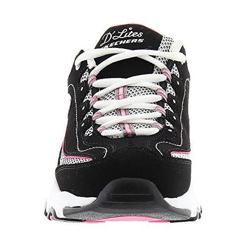 Damen Weiß D'Lites Extreme BKW Schwarz Skechers 11422 Sneaker Rosa Bnq0IwwUx