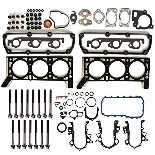 SCITOO Head Gasket Set Replacement for Plymouth Voyager Chrysler Town Country Dodge Grand Caravan 1997-2008 Engine Head Gaskets Kit Sets with Bolts
