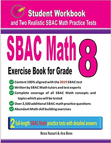 SBAC Math Exercise Book for Grade 8: Student Workbook and Two