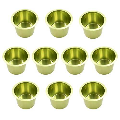 Lot of 10 Aluminum Jumbo Poker Table Cup Holder in Green by YH Poker by YH Poker