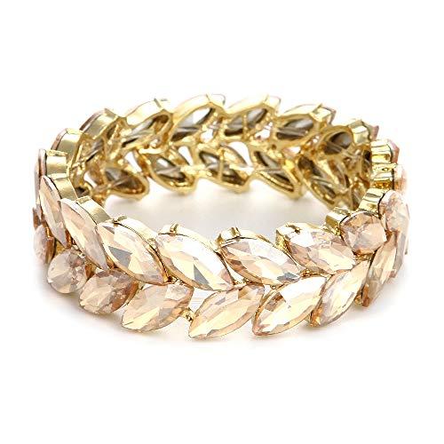 Youfir Women's Austrian Crystal Wedding Knot Elastic Stretch Bracelet for -