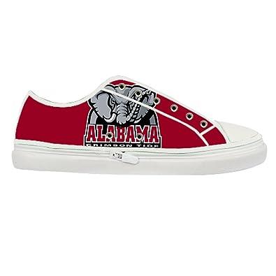 cd4607515 Dander Women s Printed Alabama Crimson Tide Canvas Shoes White color map  US10