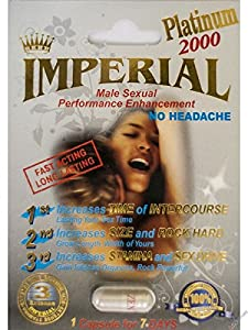 Imperial 2000mg PLATINUM Male Sexual Performance Enhancement Pill 6 PK