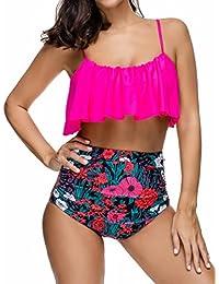 Ebuddy Summer Wearing Fashion Women High Waist Vintage Bikini Tankini Set
