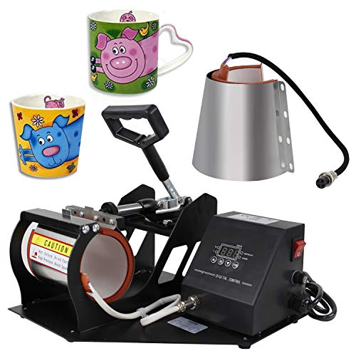 Super Deal Pro 2 in 1 Mug Cup Heat Transfer Sublimation Heat Press Machine W/Two Mug Attachments 11OZ 12OZ