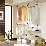 Double 2 Tier Hanger & Shelves | Clothing Rack | Closet Organizer