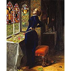 The High Quality Polyster Canvas Of Oil Painting 'John Everett Millais - Mariana,1851' ,size: 16x20 Inch / 41x50 Cm ,this Best Price Art Decorative Prints On Canvas Is Fit For Living Room Decoration And Home Decor And Gifts