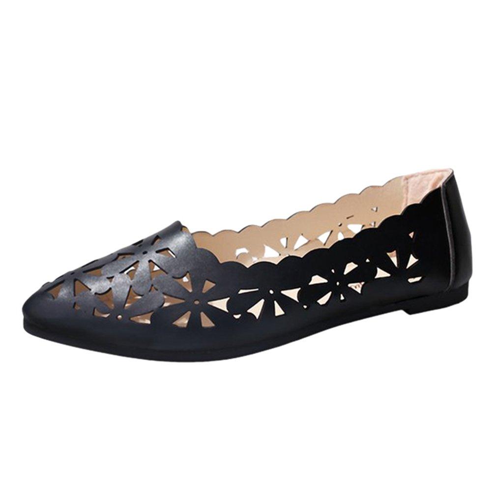 Sentaoa Mocassins Femmes en 18886 PU Chaussures Cuir Casuel Mocassins Confort Chaussures Plates Loafers Chaussures de Conduite Respirant Bateau Chaussures Sandale Noir e6e129e - jessicalock.space