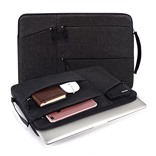 - WIWU 15-15.6 Inch Laptop Sleeve Case with Handles and Pockets for MacBook Pro Retina, Acer Aspire/Predator, Toshiba, Dell Inspiron,ASUS P-Series,HP Pavilion,Lenovo,MSI GL62M, Chromebook Notebook,Black