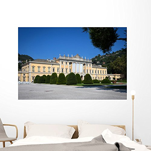 Wallmonkeys Villa Olmo Lake Como Wall Mural Peel and Stick Graphic (60 in W x 40 in H) ()