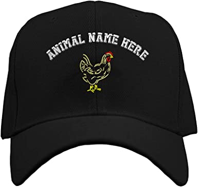 Custom Baseball Cap Rooster Outline Embroidery Casual Hats for Men /& Women