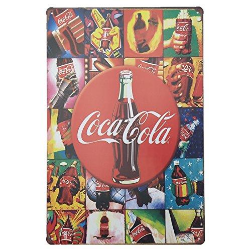 MARQUISE & LOREAN Coca Cola Placas Decorativas Pared Cocacola Chapas Vintage Metálicas Cocacola Elígeme (20 x 30 cm, Multicolor)