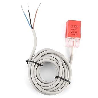 Interruptor de Proximidad Inductivo Material de ABS PL 05N Sensor de Proximidad NPN Distancia de Detección