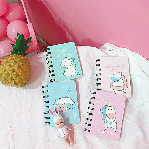 Rollover peque/ña bobina port/átil Notebook Bloc de notas mini bolsillo creativo de Corea