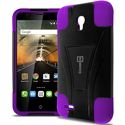 Alcatel Go Play Case, One touch Conquest Case, CoverON Dual Defense Rugged Dual Layer Design Tough and Protective Phone Case for Alcatel One Touch Go Play / Conquest - Purple - Tombile Phones
