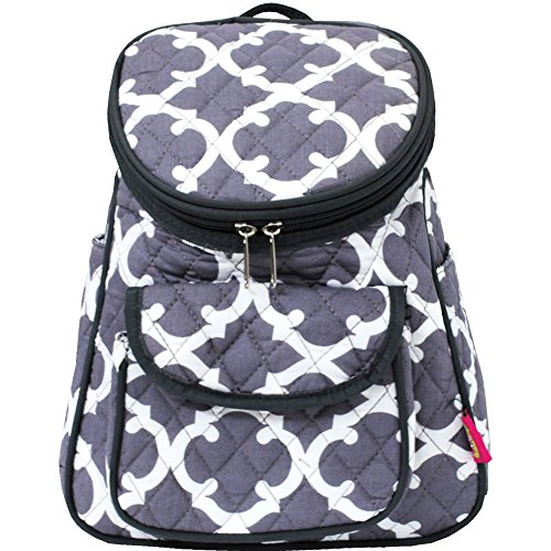 Geometric Clover (Grey) NGIL Quilted Mini Backpack