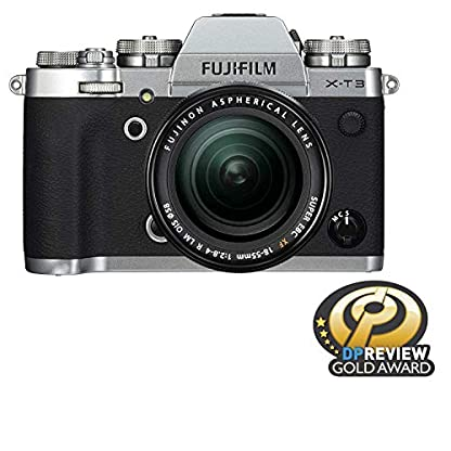 """Fujifilm X-T3 26.1 MP Mirrorless Camera with XF 18-55 mm Lens (APS-C X-Trans CMOS 4 Sensor, X-Processor 4, EVF, 3"""" Tilt Touchscreen, Fast & Accurate AF, Face/Eye AF, 4K/60P Video) - Silver 1"""