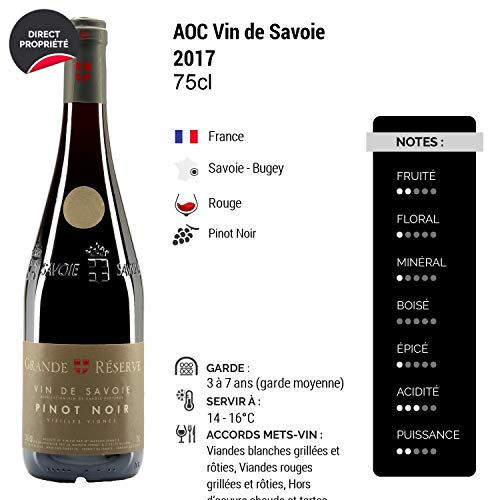 Vin-de-Savoie-Grande-Rserve-Pinot-Noir-Vieilles-Vignes-Rouge-2017-Maison-Perret-Vin-AOC-Rouge-de-Savoie-Bugey-Cpage-Pinot-Noir-Lot-de-6x75cl