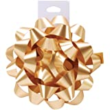 Cindus Carnival Bow, 4.5-Inch, Gold, Pack of 12