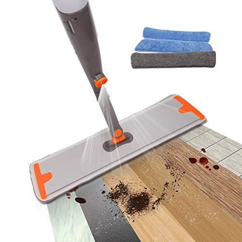 Spray Mop, Floor Mop and Microfiber Mop with Integrated Spray and 360 Degree Rotation,3 Reuseable Mop Pad Include,Dry/Wet Mop for Hardwood Floor Cleaner, Wood, Laminate Floor, Tile Floor Cleaner