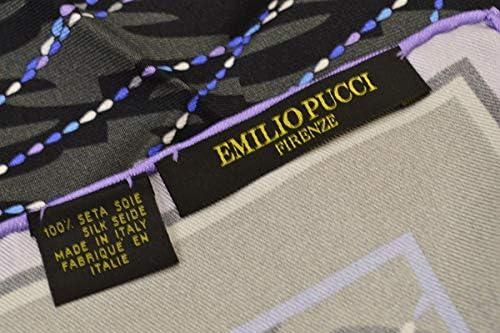(エミリオプッチ)ポケットチーフ メンズ プッチ柄シルクポケットチーフ(サイズ32×32cm)eep19w134 グレー