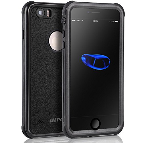 ImpactStrong iPhone 6 Plus Waterproof Case [Fingerprint ID Compatible] Slim Full Body Protection for Apple iPhone 6 Plus & 6s Plus (5.5