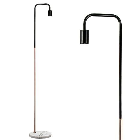 MiniSun - Moderna lámpara de pie Talismán - Con innovador diseño y sabor vintage - Cobre y negro