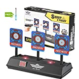 LITTLE 8 Electronic Shooting Target for Nerf Guns Blaster Elite/ Mega/ Rival Series- Auto Reset Digital Scoring Target with Intelligent Sound and Light Effect Gift Toy Target