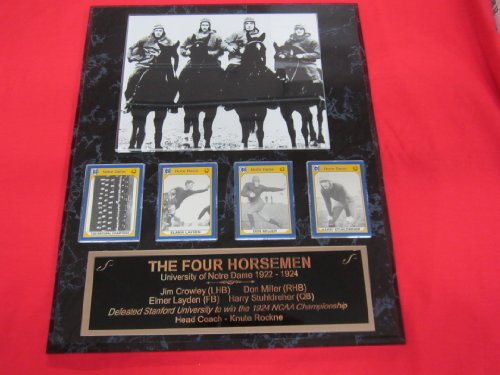 Four Horsemen Dame Notre (Notre Dame FOUR HORSEMEN 4 Card CUSTOM ENGRAVED Collector Plaque w/8x10 Photo)
