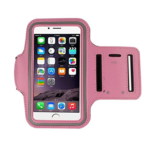 For Iphone 8 Plus Accessories,HP95(TM) Gym Running Armband Belt Sport Arm Band Case Cover for iphone 8 4.7 Inch (Pink)