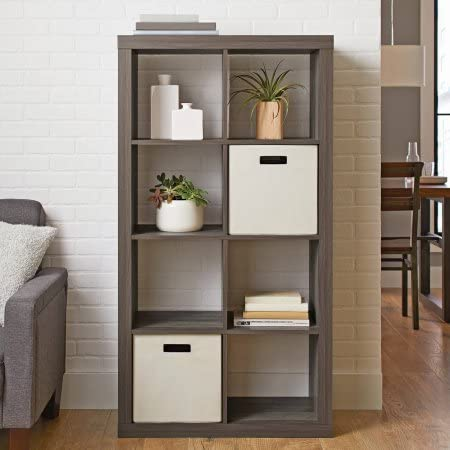 BHG 8 cube organizer in rustic gray. #shelves #storage #cubes #cubbies #organization #homedecor