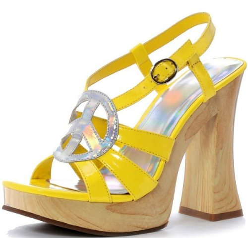 Funk Adult Costume Shoes Yellow - Size 6