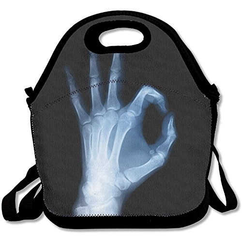 Staronor X-ray Image Of Hand Lunch Box Bag For Kids And Adult,lunch Tote Lunch Holder With Adjustable Strap For Men Women Boys Girls,This Design For Portable, Oblique Cross,double Shoulder