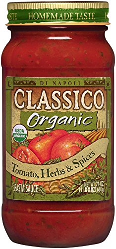 Italian Herb Pasta Sauce - Classico Organic Tomato, Herbs & Spices Pasta Sauce, 24 Ounce