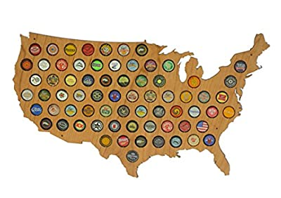 USA Beer Cap Map by Skyline Workshop