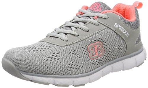Bruetting Damen Cosmos Sneaker Grau (Grau/Salmon)