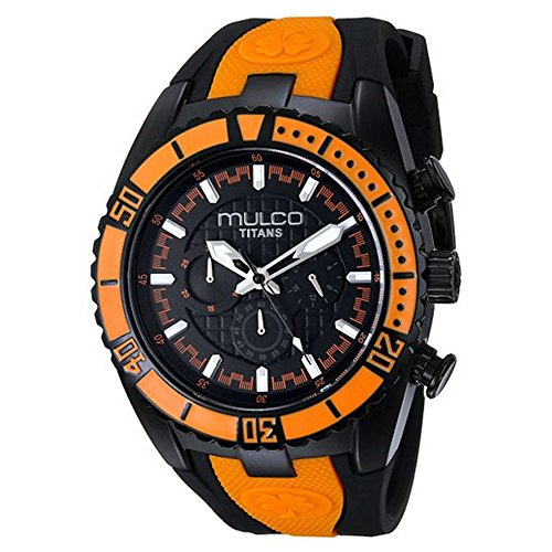 MULCO Unisex MW5-1836-615 Titan Wave Analog Display Japanese Quartz Orange Watch