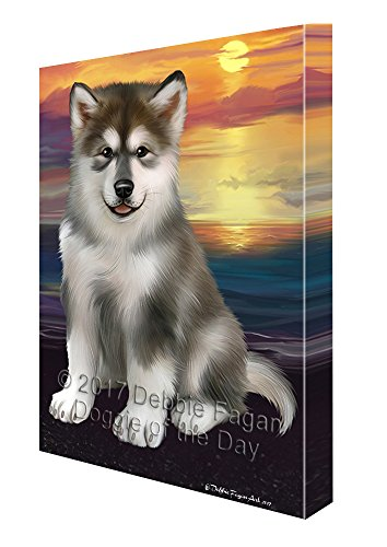 Alaskan Malamute Dog Wall Art Canvas