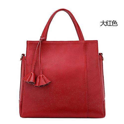 Red red Granel Suave Relieve A Hombro Bolso Claret GUANGMING77 Bolso Señoras De Bolsa Uw1qFP