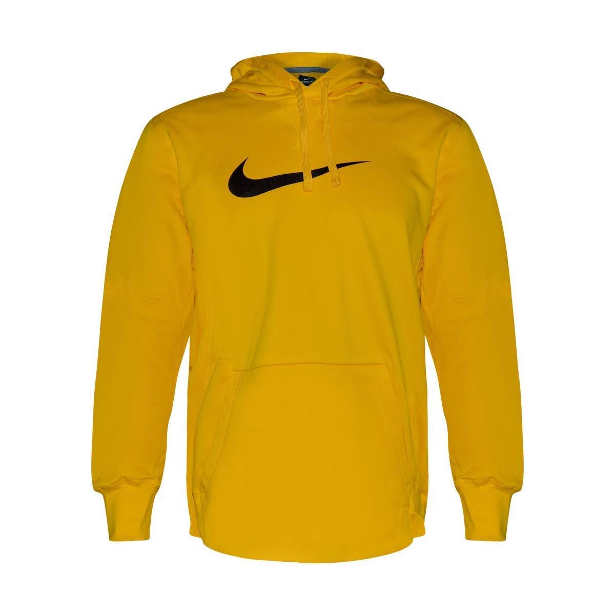 Nike Therma Fit Mens Pullover Hoodie Sweatshirt Bright