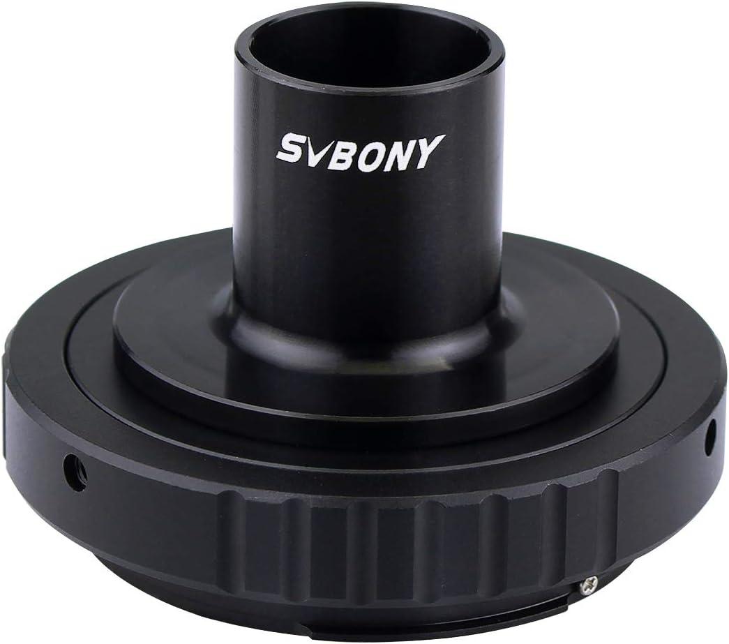 SVBONY Microscope T Adapter Camera Adapter T2 Mount Adapter for Canon EOS Camera and Microscope with 23.2mm Eyepiece Ports